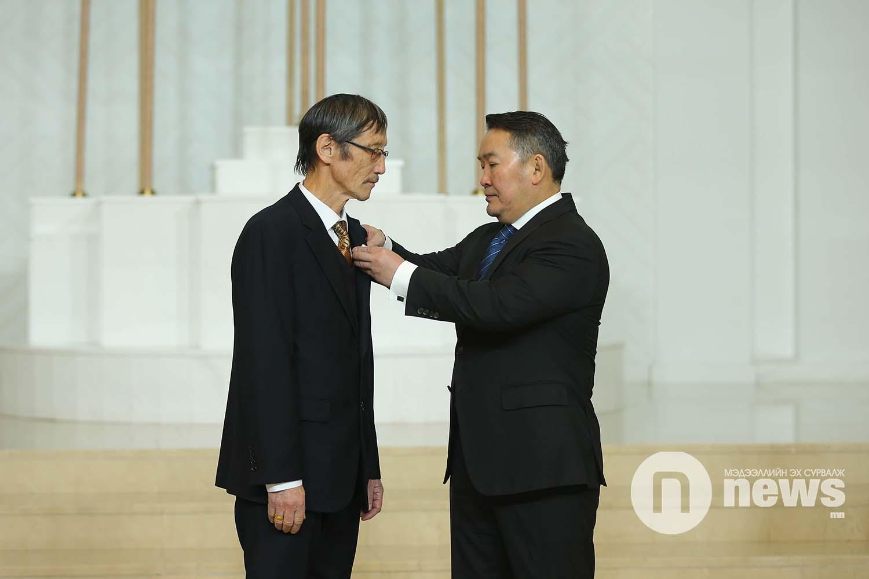 Монгол Улсын Ерөнхийлөгчийн зарлигаар Төрийн дээд одон, медаль гардуулах ёслол (27)