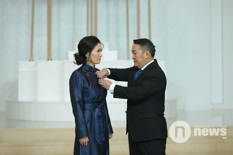 Монгол Улсын Ерөнхийлөгчийн зарлигаар Төрийн дээд одон, медаль гардуулах ёслол (29)
