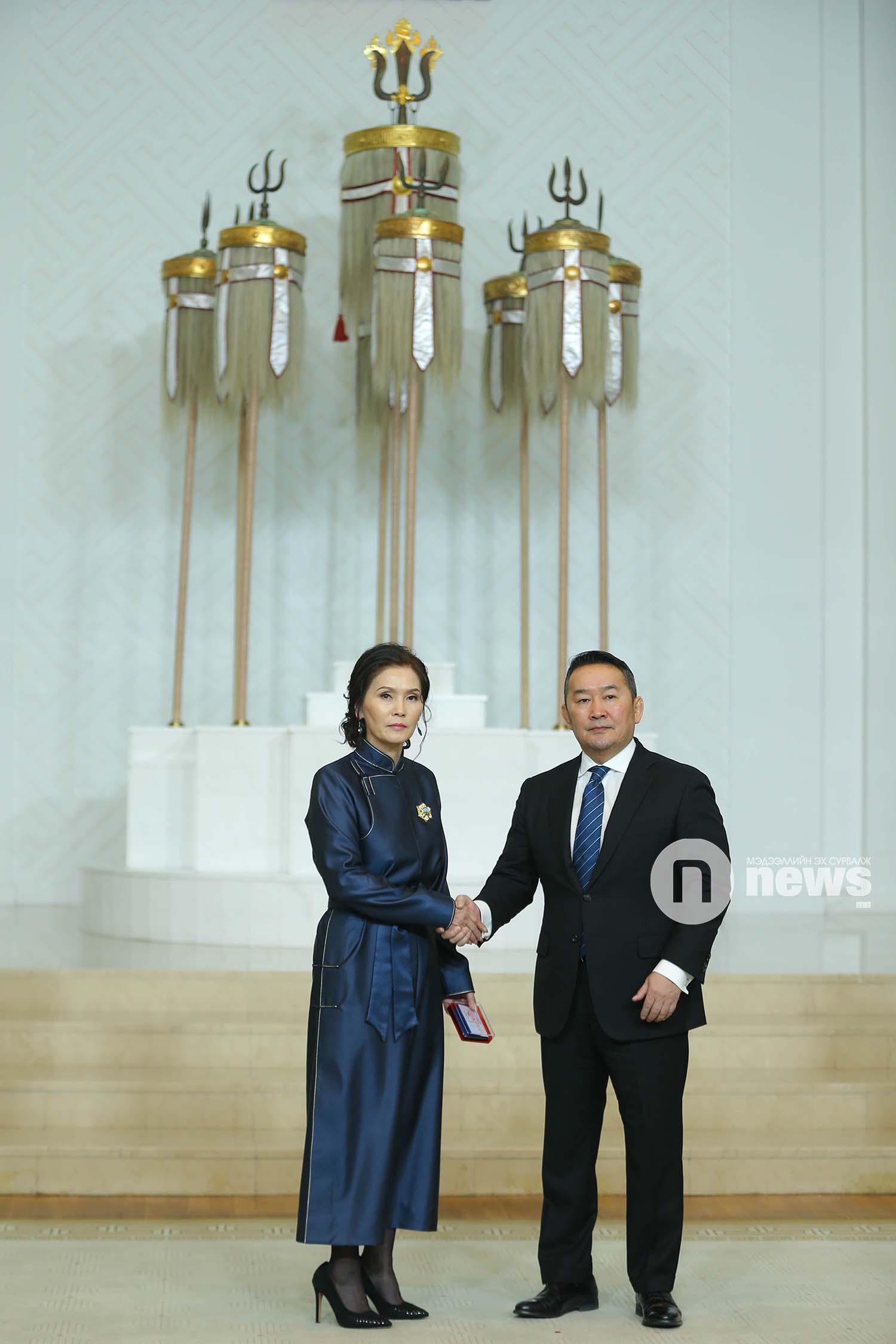 Монгол Улсын Ерөнхийлөгчийн зарлигаар Төрийн дээд одон, медаль гардуулах ёслол (30)