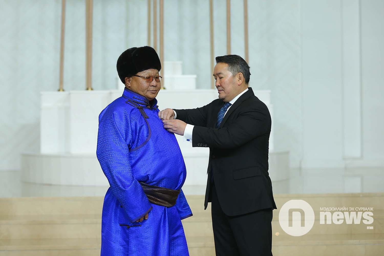Монгол Улсын Ерөнхийлөгчийн зарлигаар Төрийн дээд одон, медаль гардуулах ёслол (33)