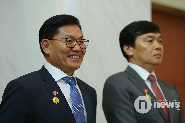Монгол Улсын Ерөнхийлөгчийн зарлигаар Төрийн дээд одон, медаль гардуулах ёслол (40)