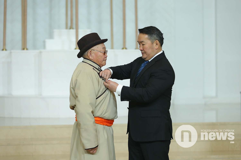 Монгол Улсын Ерөнхийлөгчийн зарлигаар Төрийн дээд одон, медаль гардуулах ёслол (48)