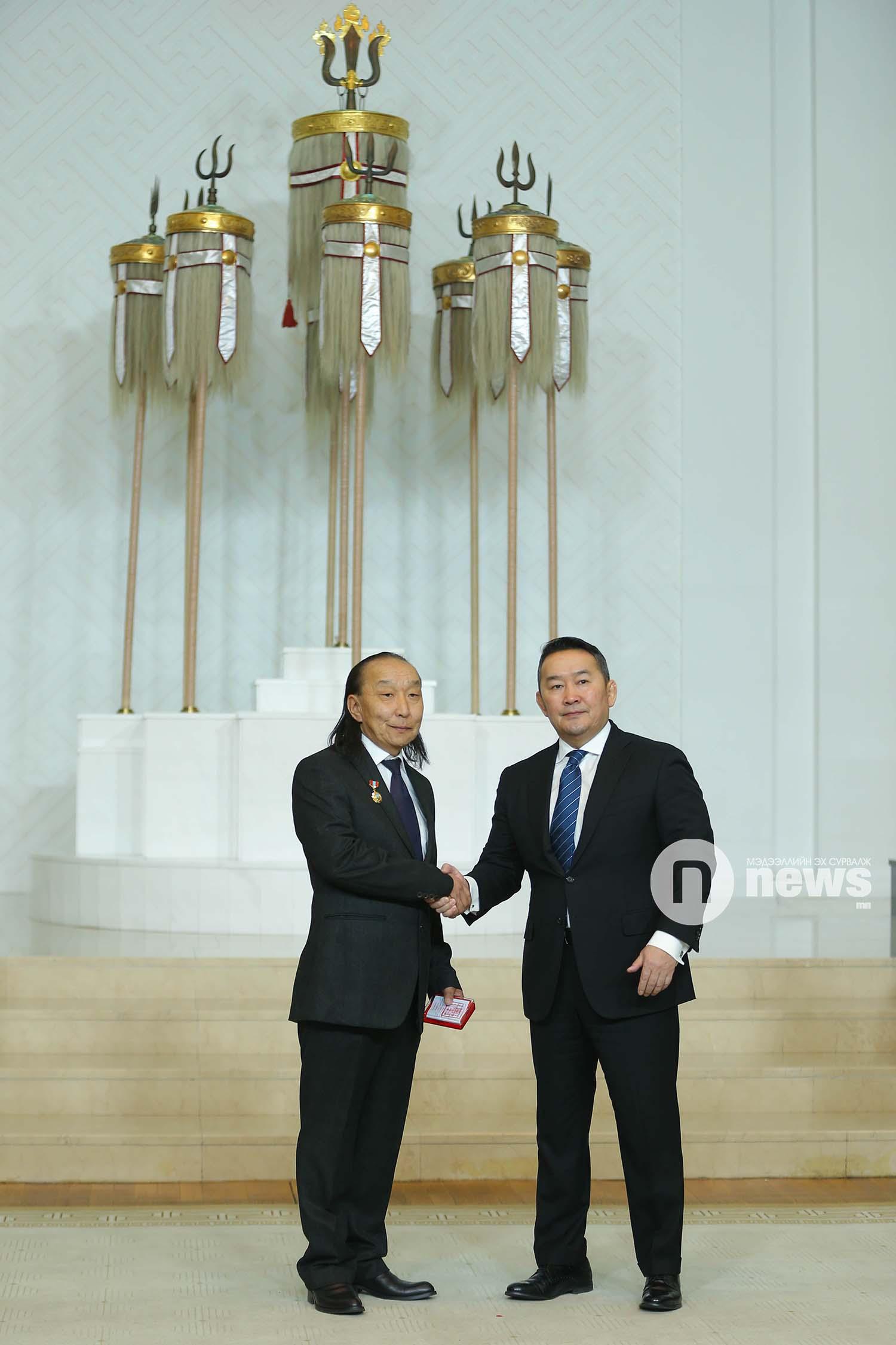 Монгол Улсын Ерөнхийлөгчийн зарлигаар Төрийн дээд одон, медаль гардуулах ёслол (5)