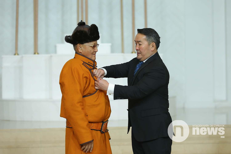 Монгол Улсын Ерөнхийлөгчийн зарлигаар Төрийн дээд одон, медаль гардуулах ёслол (52)
