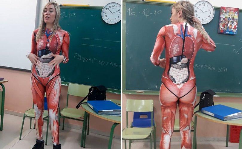 """Анатомийн хичээлийг """"хачирхалтайгаар"""" заасан багш интернетийг шуугиулав"""