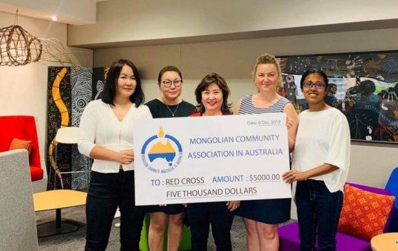 Австрали дахь монголчууд 5000 доллар хандивлажээ