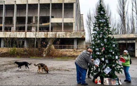 Чернобыльд 33 жилийн дараа Зул сарын гацуур засчээ