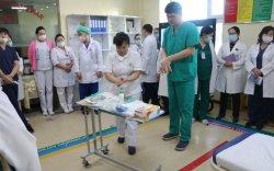 Коронавирүсийн халдвараас урьдчилан сэргийлэх дадлага сургалт хийв
