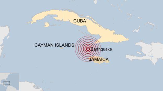 Карибын тэнгист 7.7 магнитудын газар хөдөлж, цунами болох дөхжээ