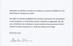 Нобелийн хорооны захидал ирлээ