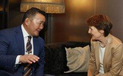 Ерөнхийлөгч Х.Баттулга Швейцарын Холбооны Улсын Ерөнхийлөгч Симонетта Соммаруга нар уулзлаа