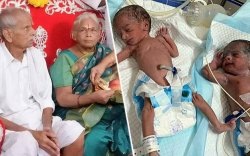 73 насандаа ихэр хүүхэд төрүүлсэн эмэгтэйн нөхөр цус харважээ