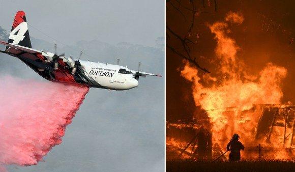 Австралийн түймрийг унтрааж байсан онгоц сүйрчээ