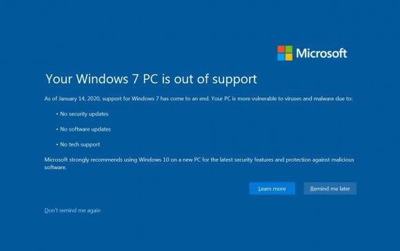 Windows7 үйлдлийн системээ солих цаг боллоо
