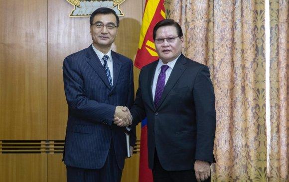 БНХАУ-аас Монгол Улсад суугаа Элчин сайдыг хүлээн авч уулзав