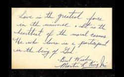 Мартин Лютер Кингийн хайрын тухай тайлбарласан гар бичмэлийг зарна