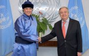 Монгол Улсаас НҮБ-ын дэргэд суух Байнгын төлөөлөгч В.Энхболд итгэмлэх захидлаа гардууллаа
