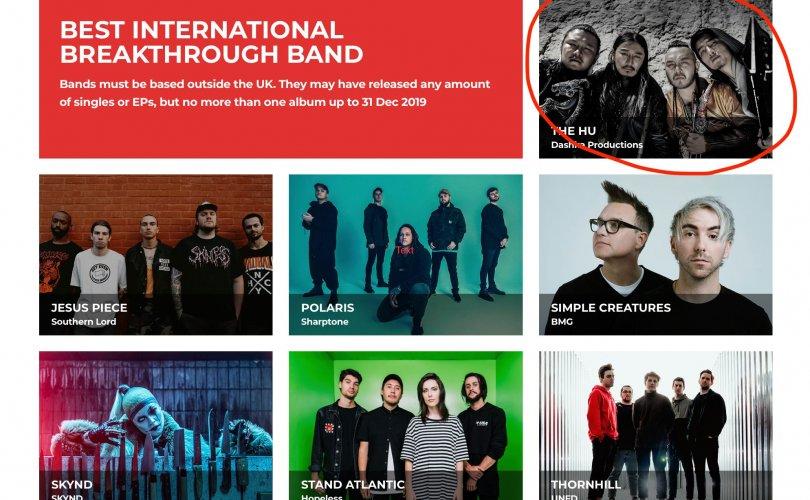 """""""The Hu"""" хамтлаг """"Heavy Music Awards 2020""""-д нэр дэвшинэ"""