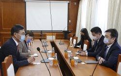 БНХАУ-аас Монгол улсад суугаа онц бөгөөд бүрэн эрхт элчин сайд Цай Вэньруйг хүлээн авч уулзлаа