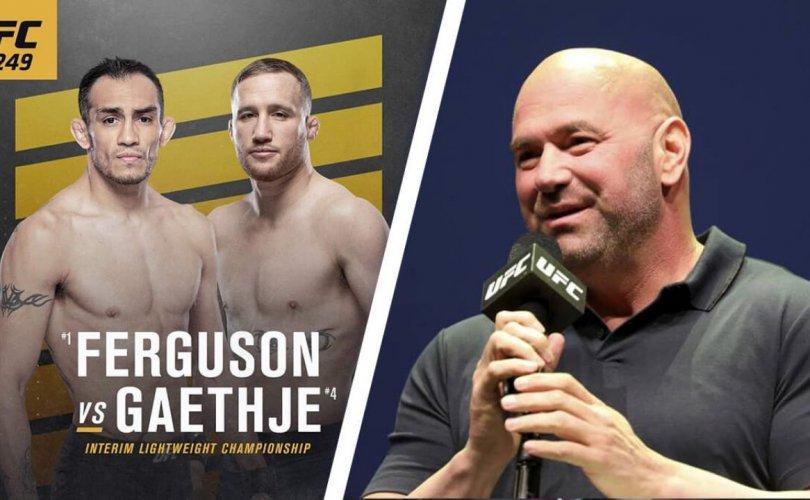 UFC 249 өдөрлөг ирэх сард эргэн ирнэ