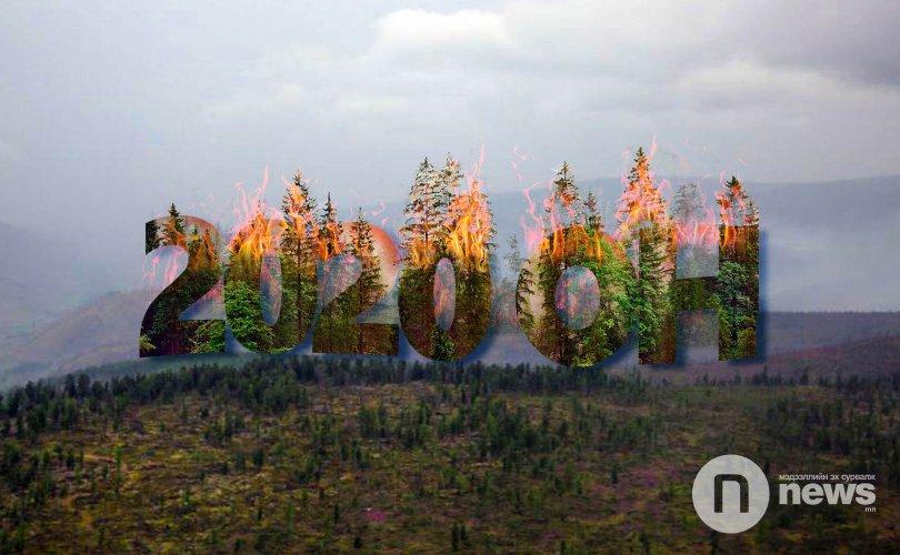 Он гарсаар 19 удаагийн ой, хээрийн түймэр гараад байна