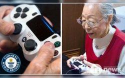 Видео тоглоом тоглодог 90 настай эмээ Гиннест бичигдлээ