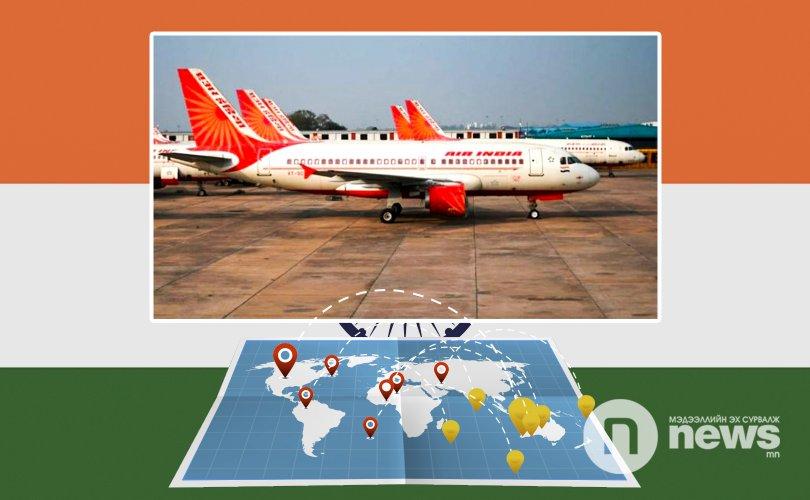 Энэтхэгээс 12 орон руу чартер нислэг хийнэ
