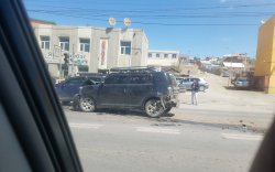 Баянхошуунд гурван автомашин мөргөлдсөн ноцтой осол гарчээ