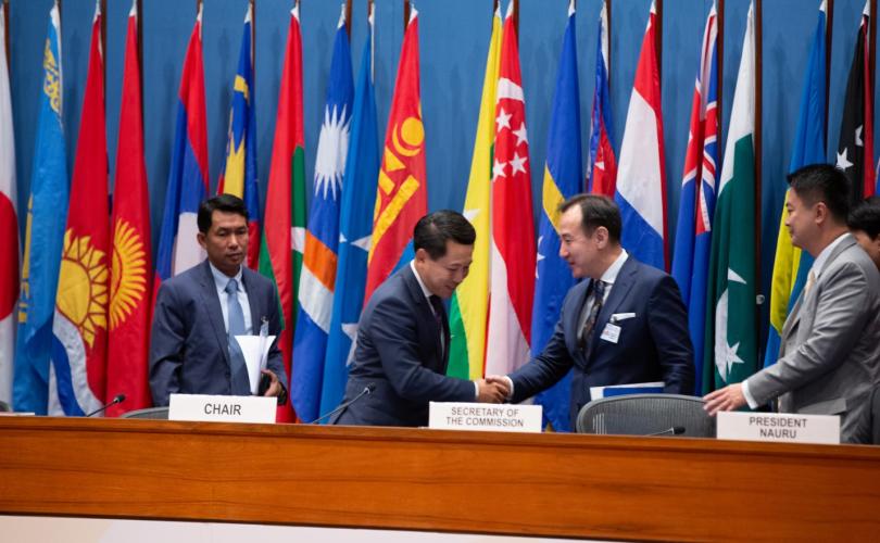Монгол Улс НҮБ-ын АНДЭЗНК-ын чуулганы даргын  үүрэгт ажлаа хүлээлгэн өгнө
