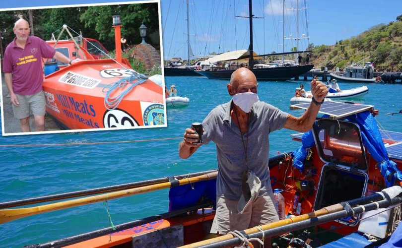 72 настай Британийн иргэн сэлүүрт завиар Атлантын далайг туулжээ