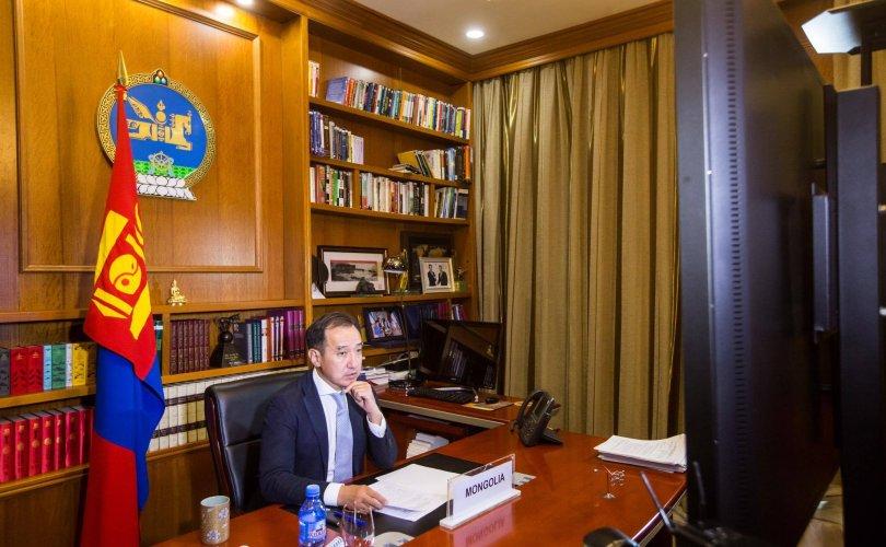 Д.Цогтбаатар Ковид-19-тэй тэмцэх өндөр түвшний видео хуралд оролцов