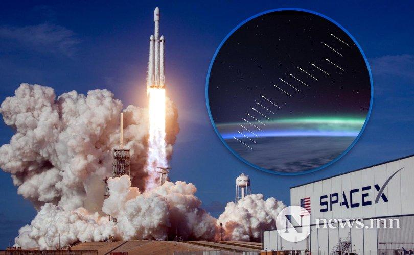 SpaceX компани 58 хиймэл дагуул хөөргөжээ