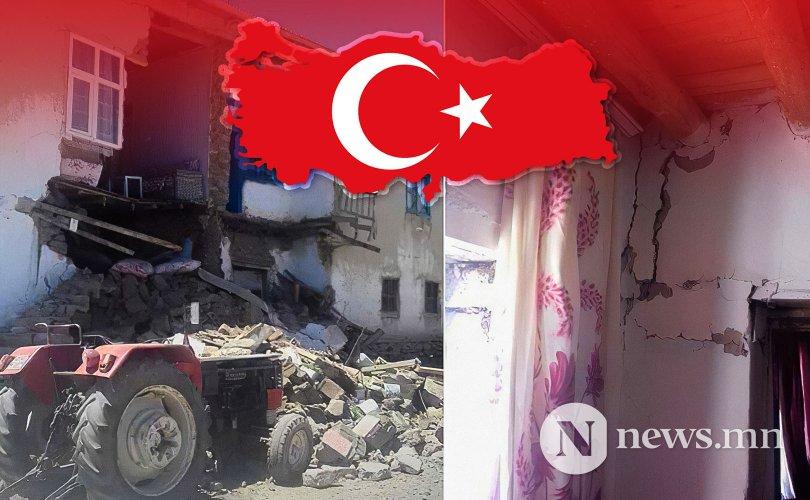 Туркт хүчтэй газар хөдөлж, таван хүн гэмтжээ