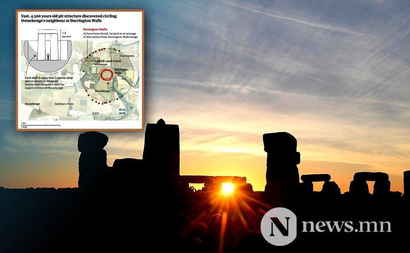 Stonehenge-н ойролцоо урьд өмнө олдож байгаагүй том байгууламж олджээ
