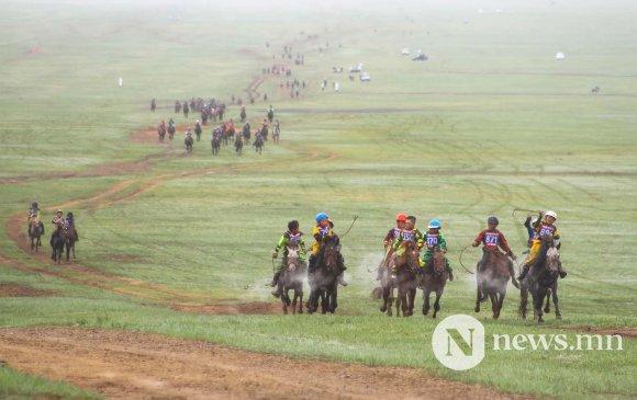 Монгол Улсын алдарт уяач П.Энхмөнхийн хул азарга түрүүллээ