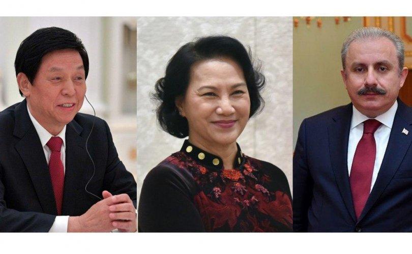 БНХАУ, БНТУ, БНСВУ-ын парламентын тэргүүнүүд Г.Занданшатарт УИХ-ын даргаар дахин сонгогдсонд нь баяр хүргэлээ