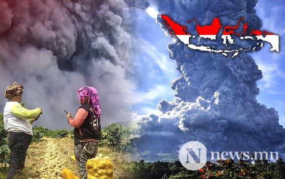 Видео: Индонезийн Синабунг галт уул оргилжээ