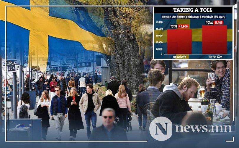 Шведэд нас баралт сүүлийн 150 жилд байгаагүй дээд хэмжээнд хүрчээ