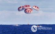 Space X: Сансрын нисгэгчид хоёр сарын дараа эх дэлхийдээ ирэв