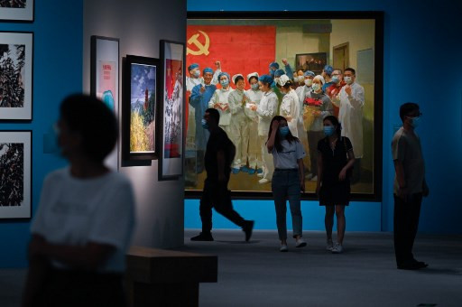 Хятадад коронавирусийн тухай үзэсгэлэн нээгдэв
