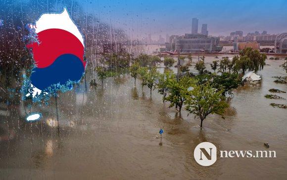 Өмнөд Солонгост 49 хоног тасралтгүй бороо оров