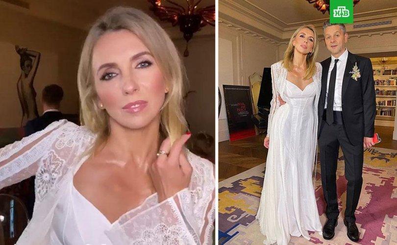 Светлана Бондарчук хуримандаа 700 мянган рублийн даашинз өмсчээ