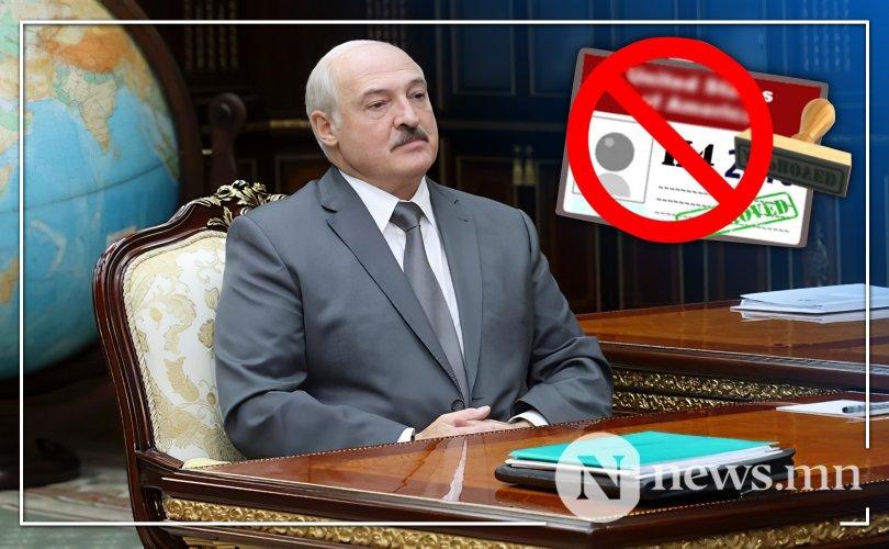 Балтийн тэнгисийн орнууд Лукашенкогийн эсрэг визний хориг тавив