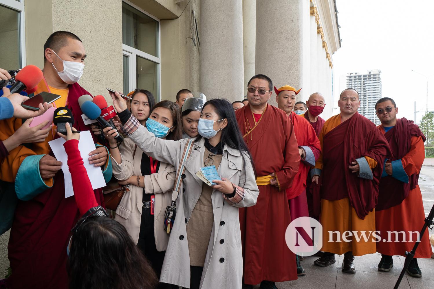 ГХЯ нд Монголын сүм хийд, Сүсэгтний холбоо, лам нарын төлөөлөл монгол бичгийг хамгаалах шаардлага хүргүүлэв-8