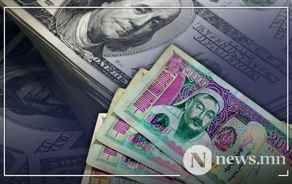 Төгрөгийн ам.доллартай харьцах ханш сулрав
