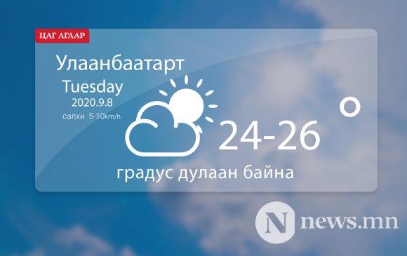 Улаанбаатарт 24-26 градус дулаан байна