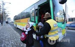 35 чиглэлд сургуулийн автобус явж эхэллээ