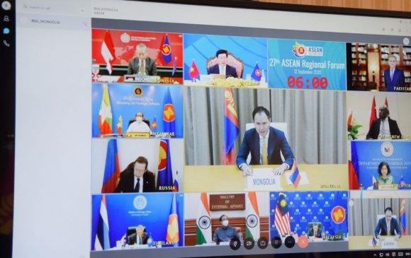 АСЕАН-ын бүсийн Сайд нарын уулзалтад оролцож, Монголын байр суурийг танилцуулав