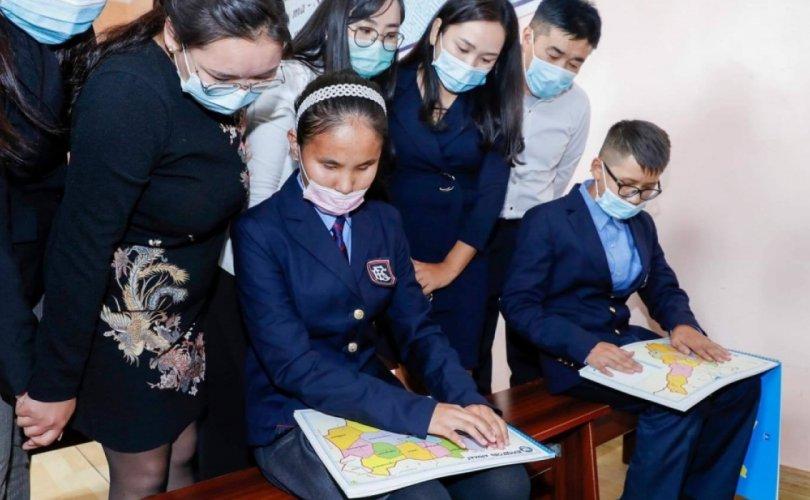 Монголд анх удаа брайль газрын зураг хэвлэжээ