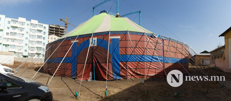 Майхан цирк дээр циркчид мэдээлэл хийж байна 80 жил (20 of 20)